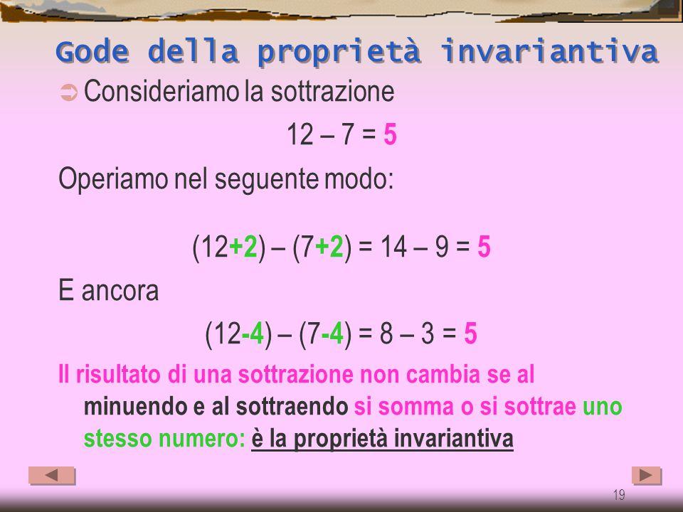 Gode della proprietà invariantiva