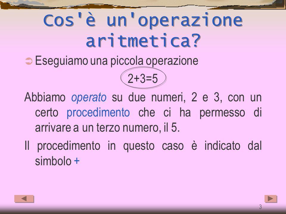 Cos è un operazione aritmetica