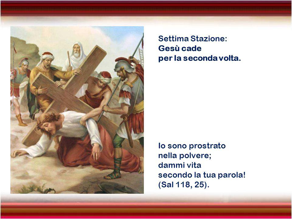Settima Stazione: Gesù cade. per la seconda volta. Io sono prostrato. nella polvere; dammi vita.