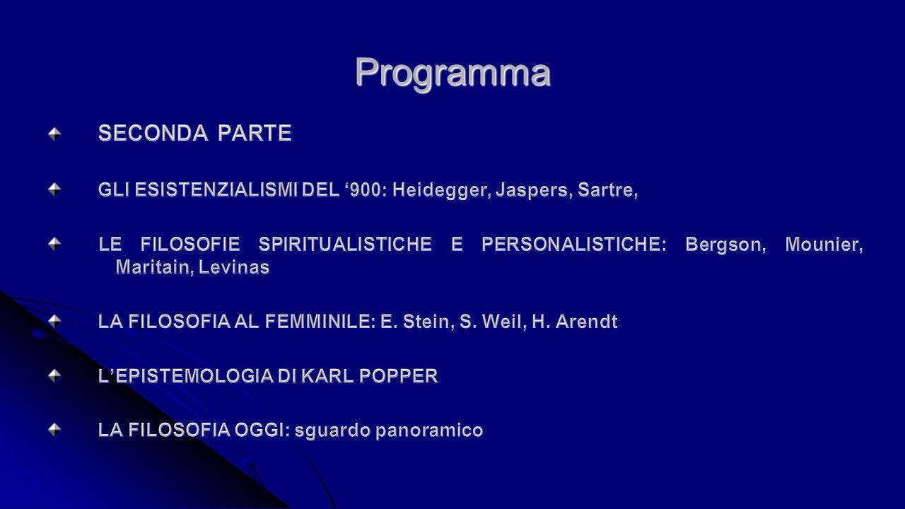 Programma SECONDA PARTE