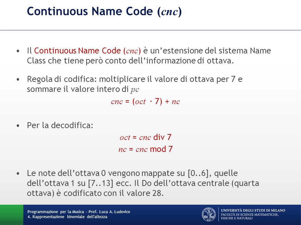 Continuous Name Code (cnc)