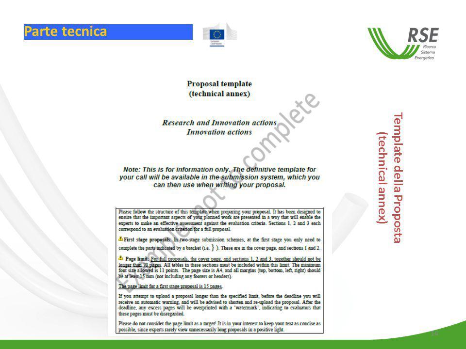 Template della Proposta (technical annex)