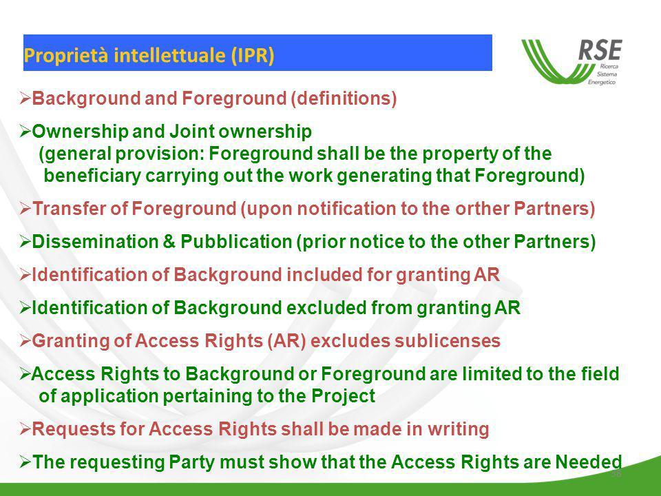 Proprietà intellettuale (IPR)