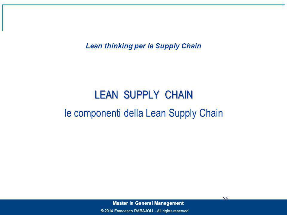 Lean thinking per la Supply Chain
