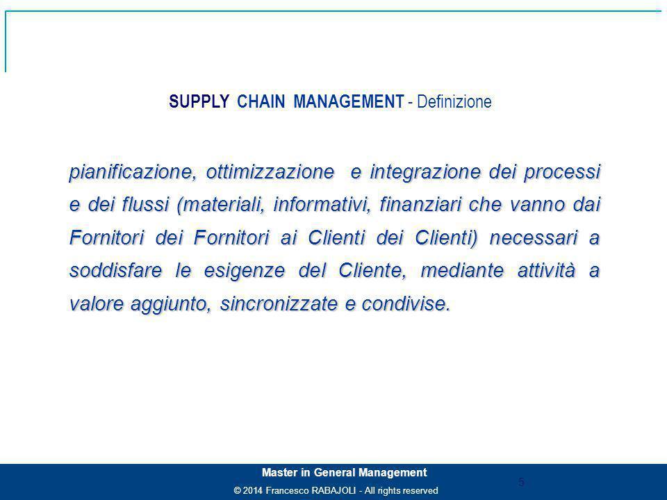 SUPPLY CHAIN MANAGEMENT - Definizione