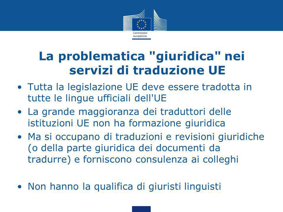 La problematica giuridica nei servizi di traduzione UE