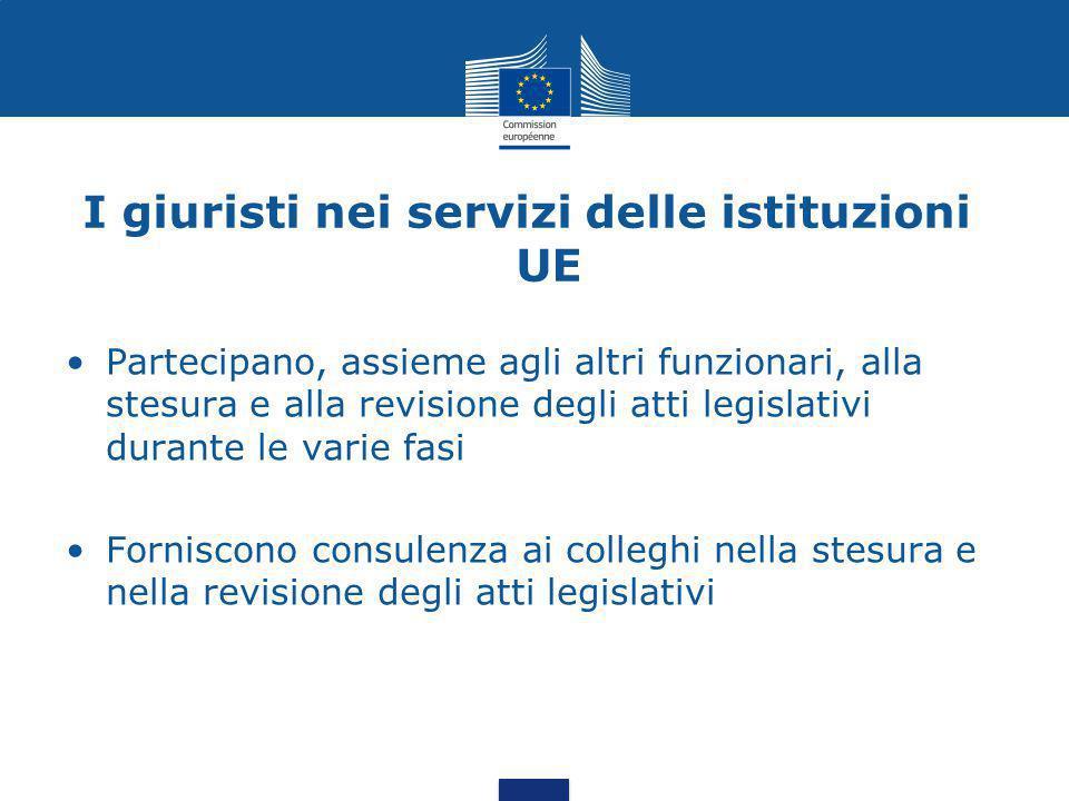I giuristi nei servizi delle istituzioni UE