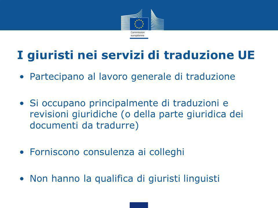 I giuristi nei servizi di traduzione UE