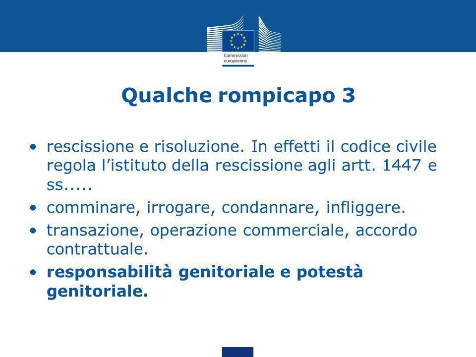 Qualche rompicapo 3 rescissione e risoluzione. In effetti il codice civile regola l'istituto della rescissione agli artt. 1447 e ss.....