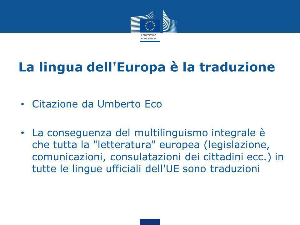 La lingua dell Europa è la traduzione