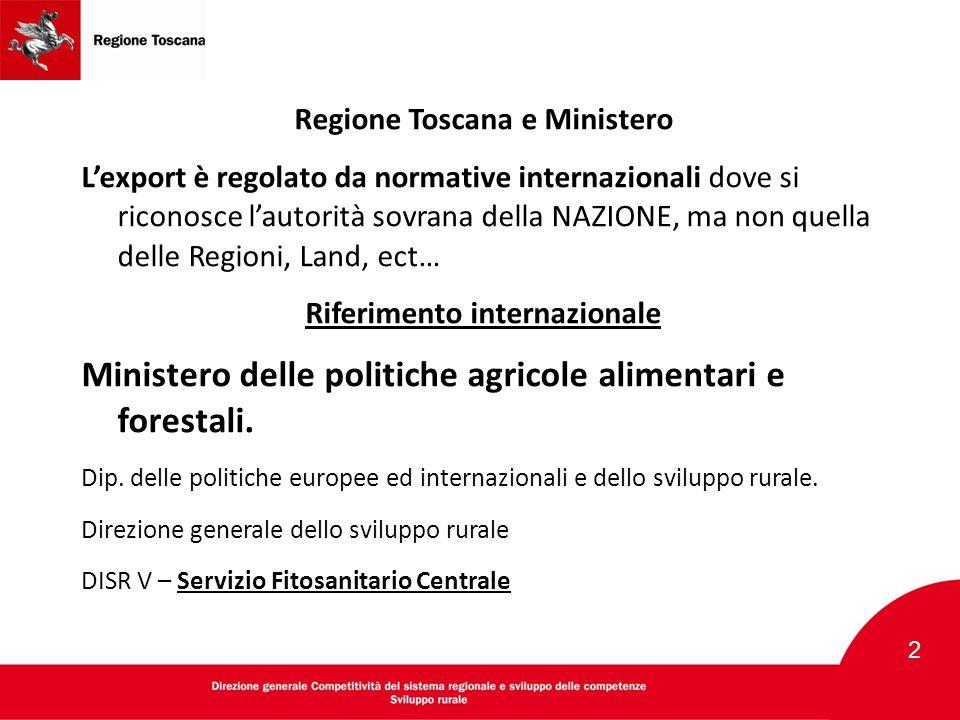 Regione Toscana e Ministero