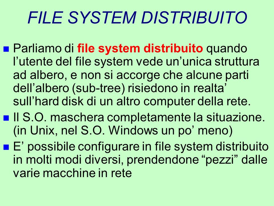 FILE SYSTEM DISTRIBUITO