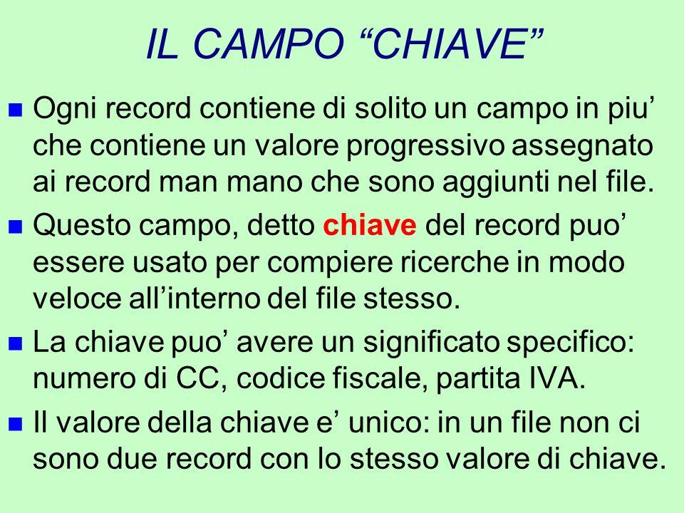 IL CAMPO CHIAVE