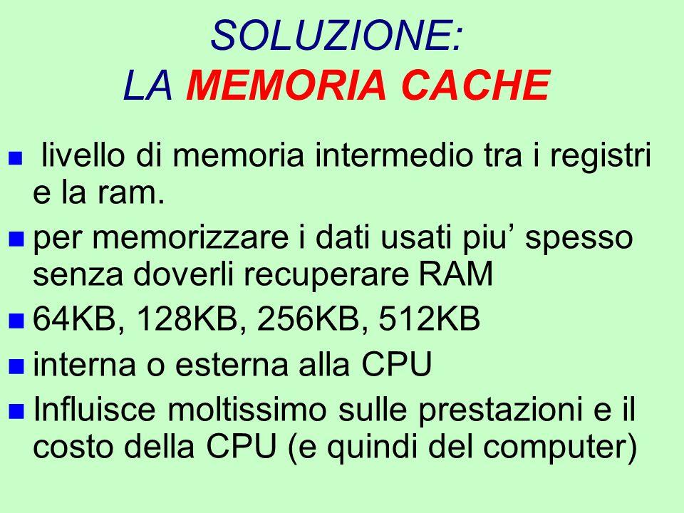 SOLUZIONE: LA MEMORIA CACHE