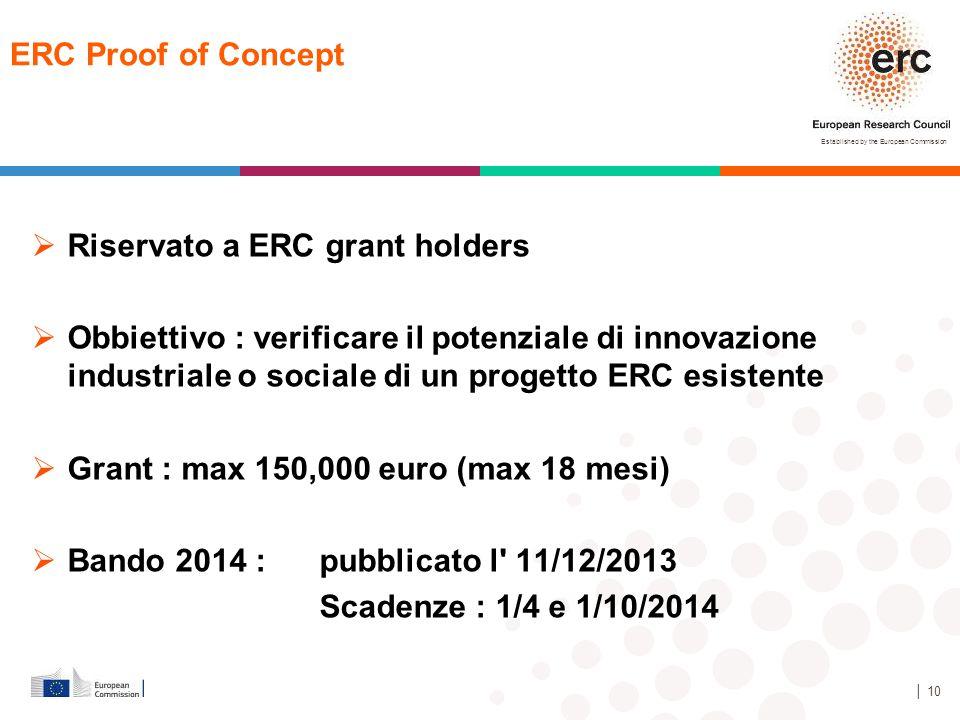 Riservato a ERC grant holders