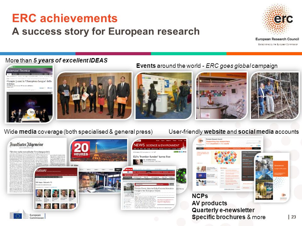 ERC achievements A success story for European research