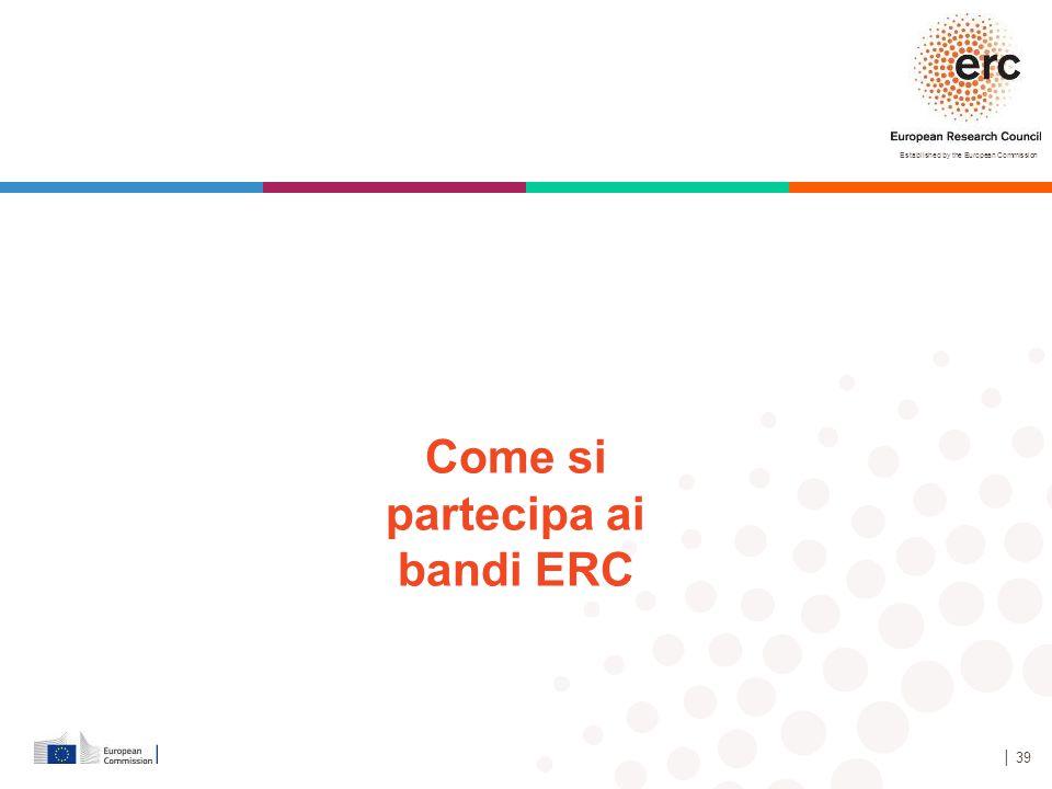 Come si partecipa ai bandi ERC