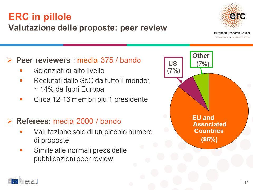 ERC in pillole Valutazione delle proposte: peer review