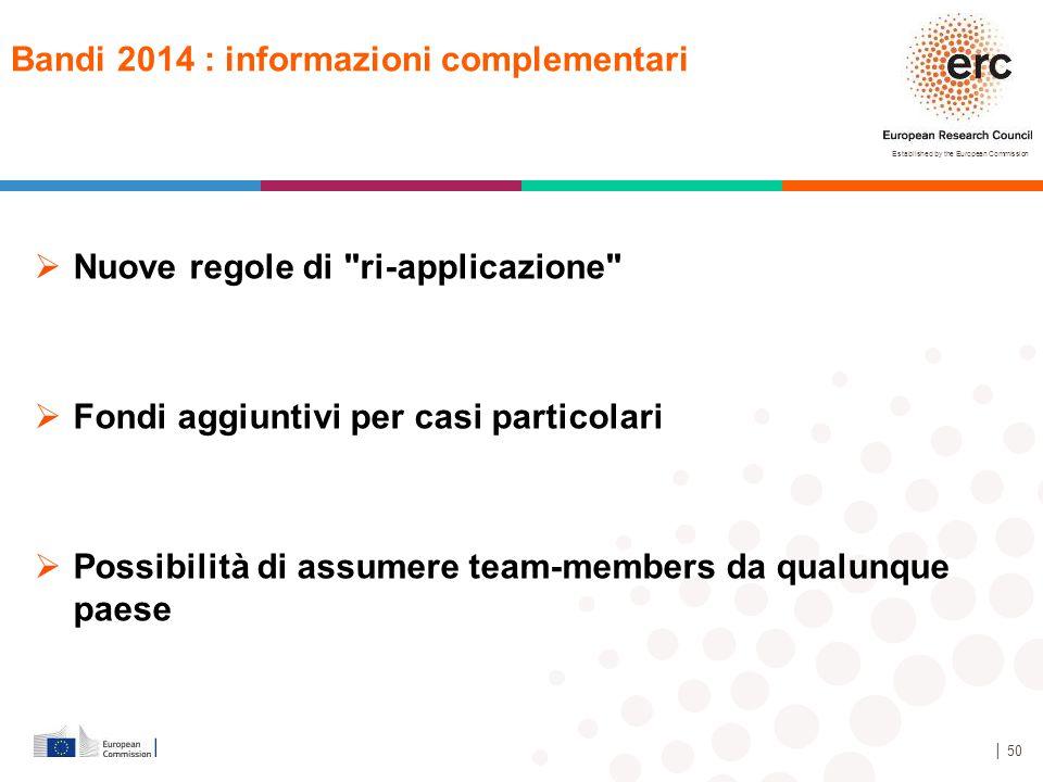 Bandi 2014 : informazioni complementari