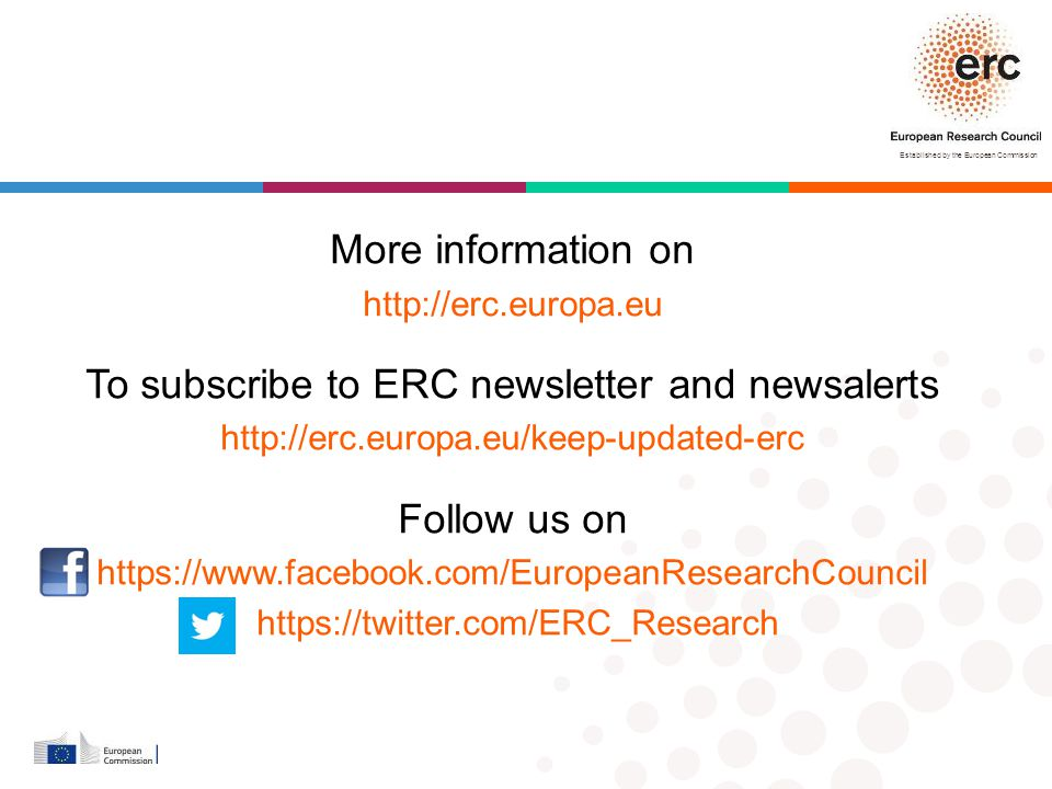 To subscribe to ERC newsletter and newsalerts