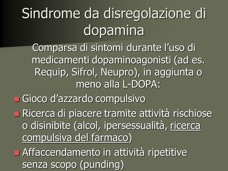 Sindrome da disregolazione di dopamina