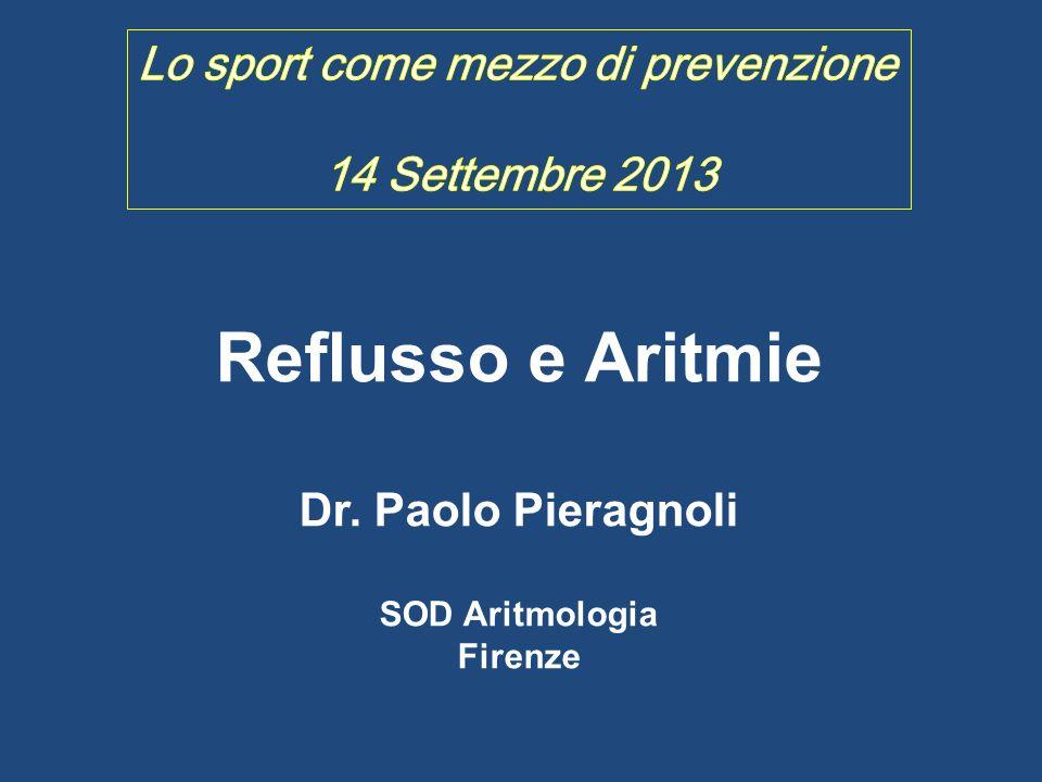 Reflusso e Aritmie Lo sport come mezzo di prevenzione
