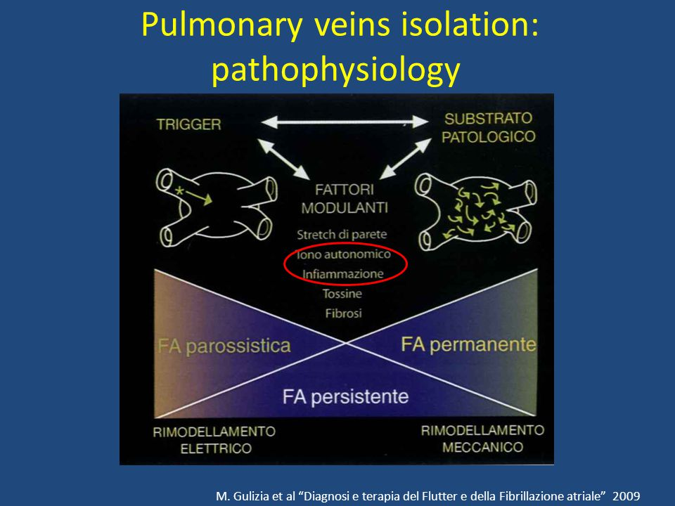 Pulmonary veins isolation: pathophysiology