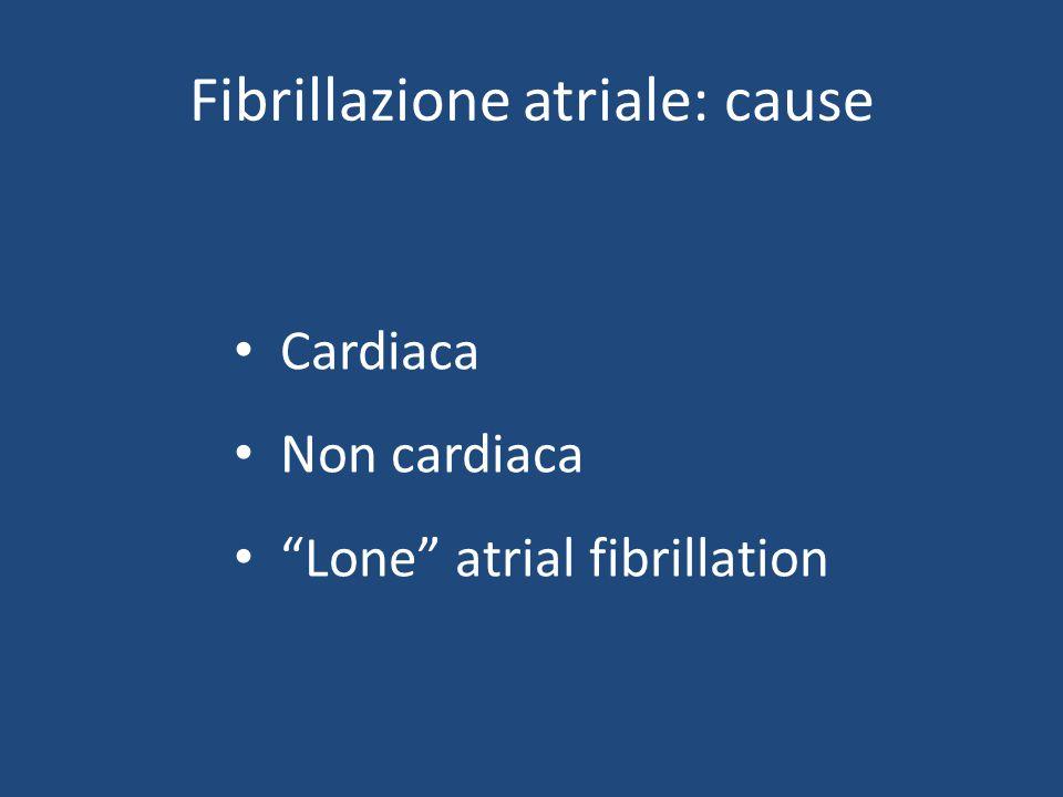 Fibrillazione atriale: cause