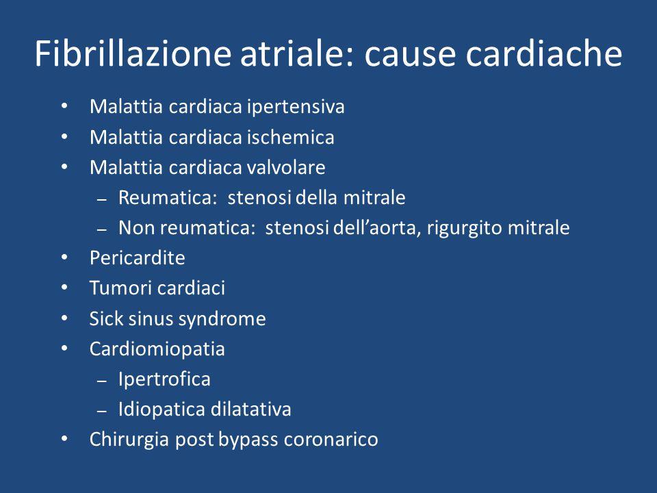 Fibrillazione atriale: cause cardiache