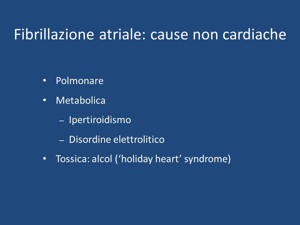 Fibrillazione atriale: cause non cardiache
