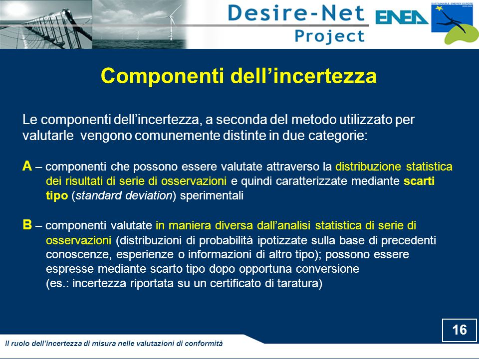 Componenti dell'incertezza