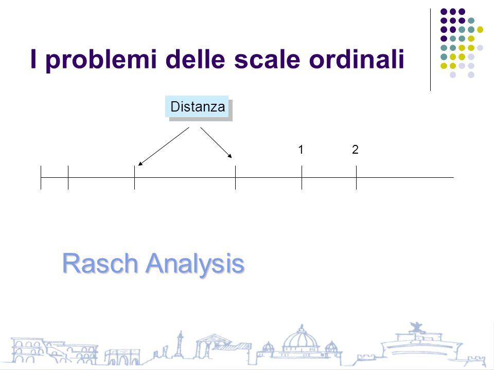 I problemi delle scale ordinali