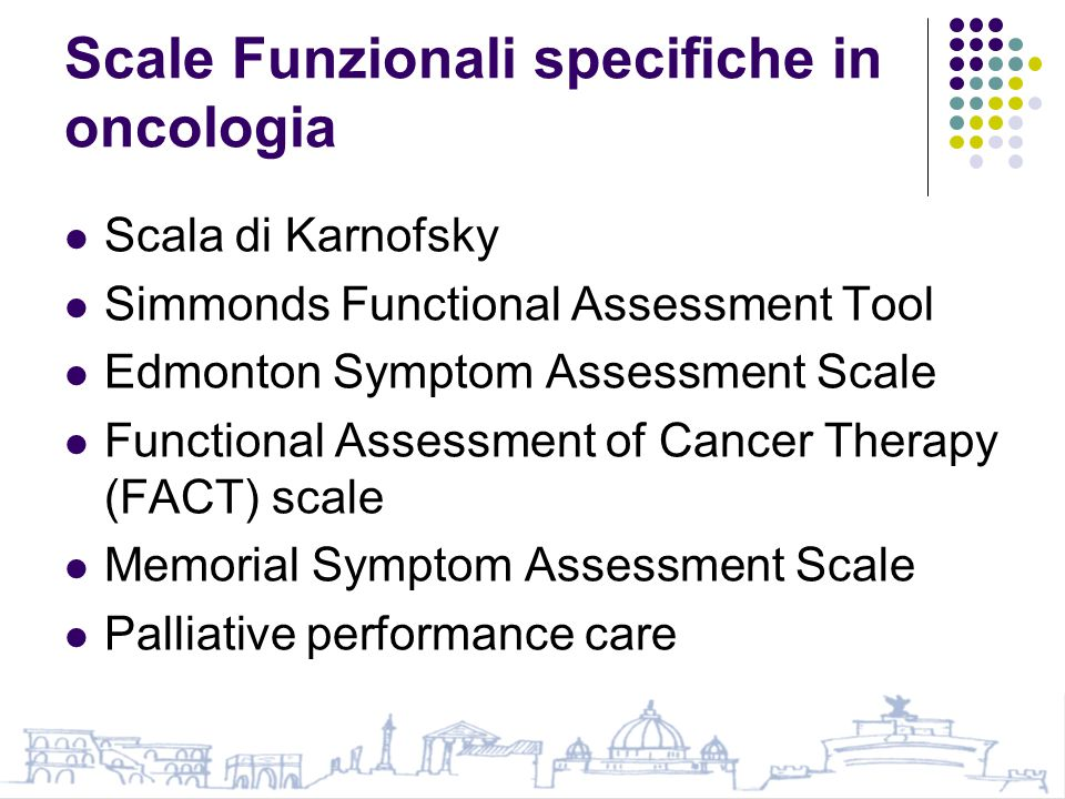 Scale Funzionali specifiche in oncologia