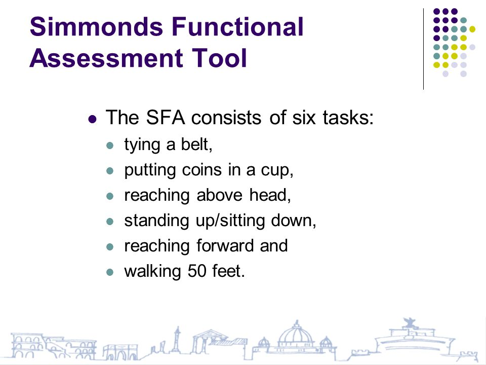 Simmonds Functional Assessment Tool