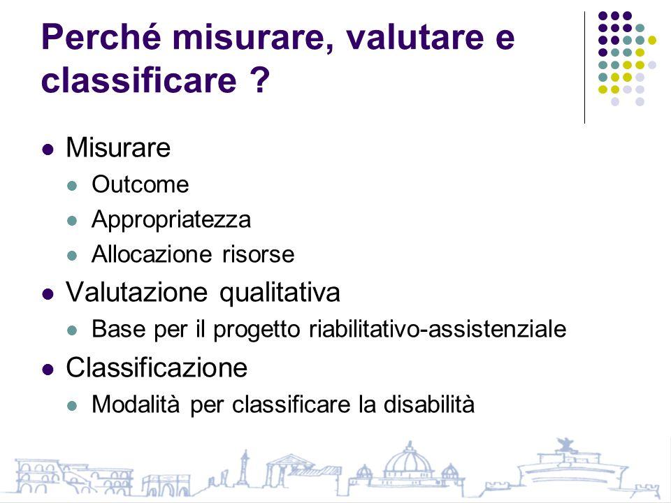 Perché misurare, valutare e classificare