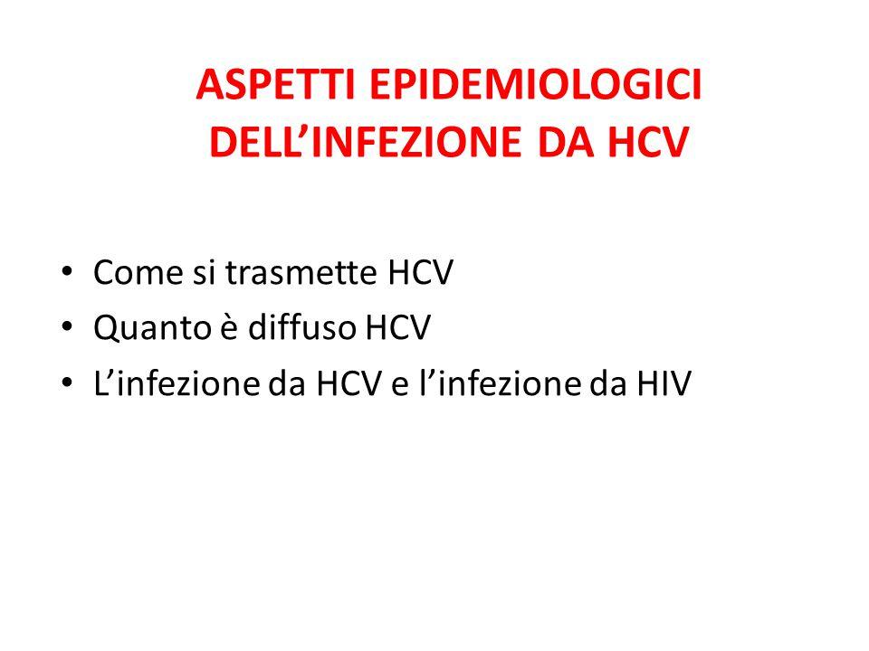ASPETTI EPIDEMIOLOGICI DELL'INFEZIONE DA HCV