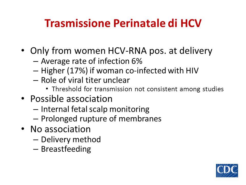 Trasmissione Perinatale di HCV