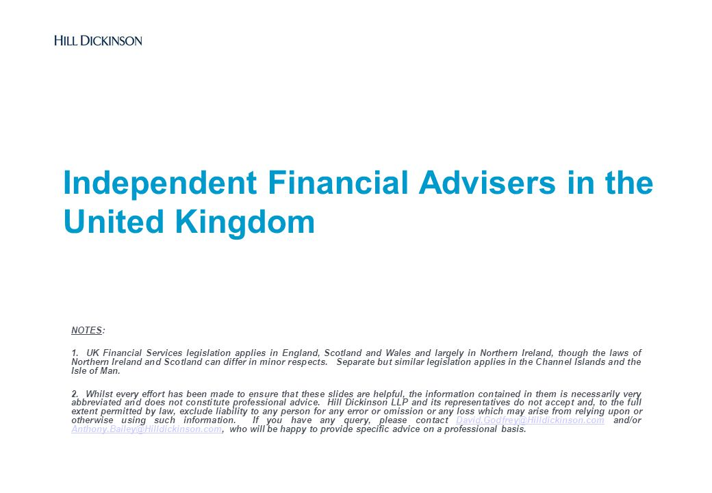 Independent Financial Advisers in the United Kingdom