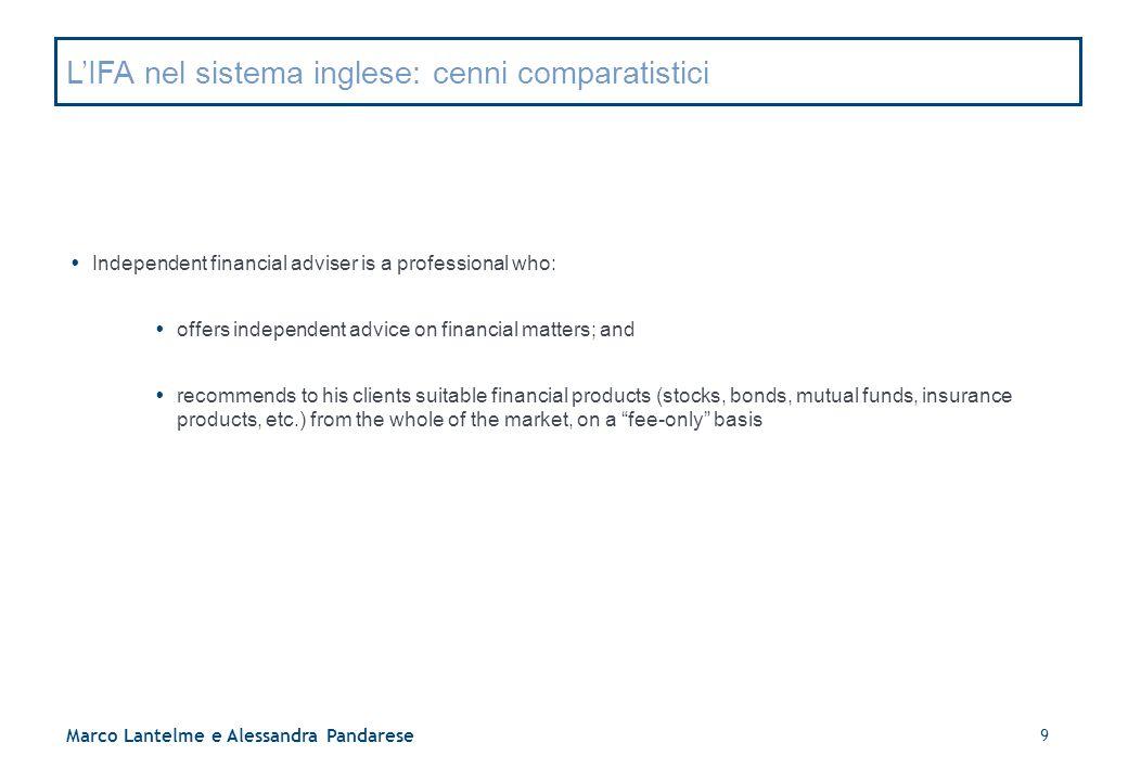 L'IFA nel sistema inglese: cenni comparatistici