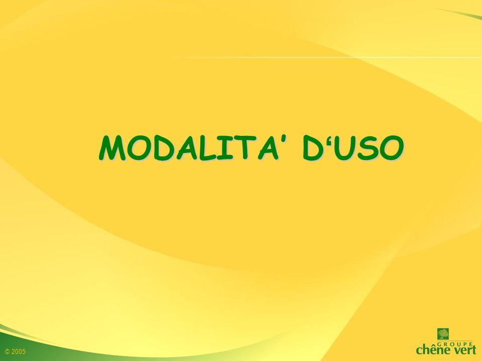 MODALITA' D'USO