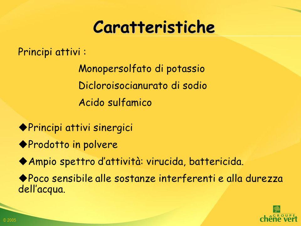 Caratteristiche Principi attivi : Monopersolfato di potassio