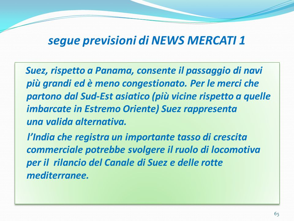 segue previsioni di NEWS MERCATI 1