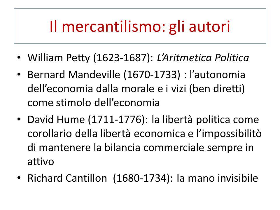 Il mercantilismo: gli autori