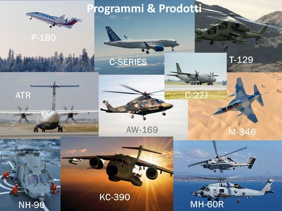 Programmi & Prodotti P-180 T-129 C-SERIES ATR C-27J AW-169 M-346