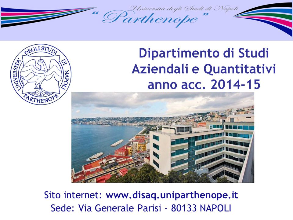 Dipartimento di Studi Aziendali e Quantitativi anno acc. 2014-15
