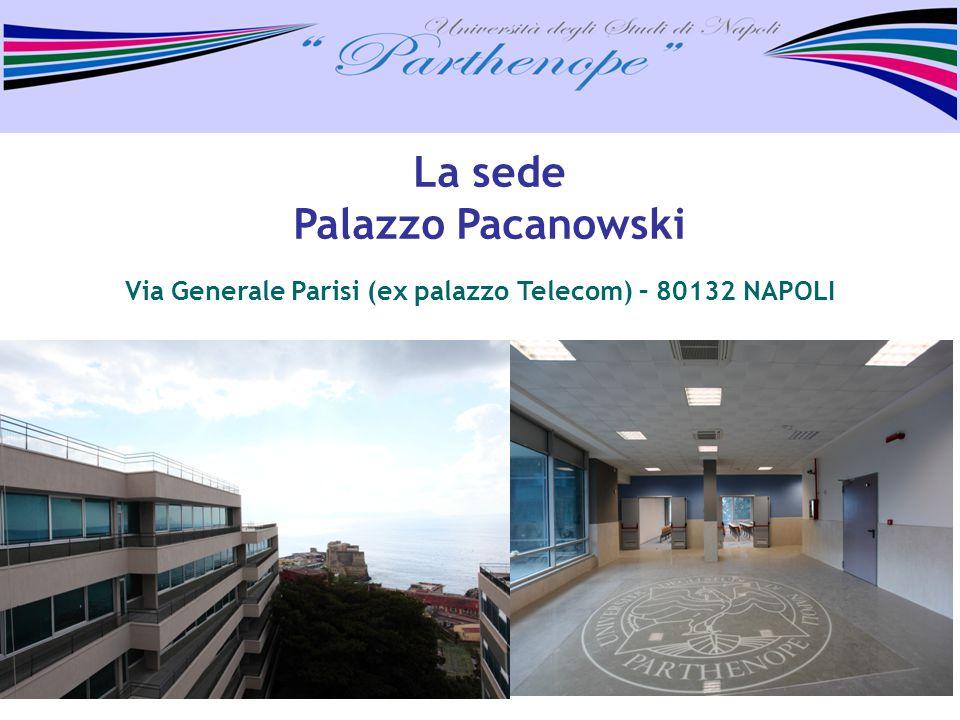 Via Generale Parisi (ex palazzo Telecom) – 80132 NAPOLI