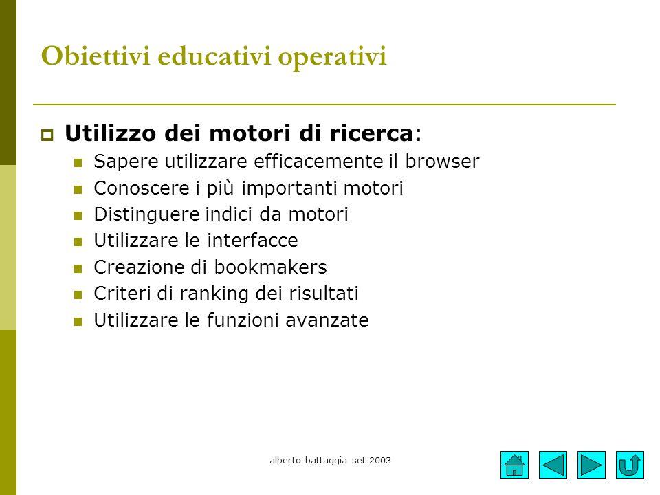 Obiettivi educativi operativi