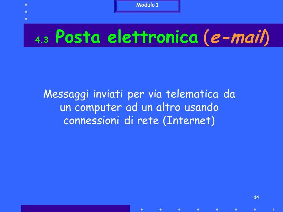 4.3 Posta elettronica (e-mail)