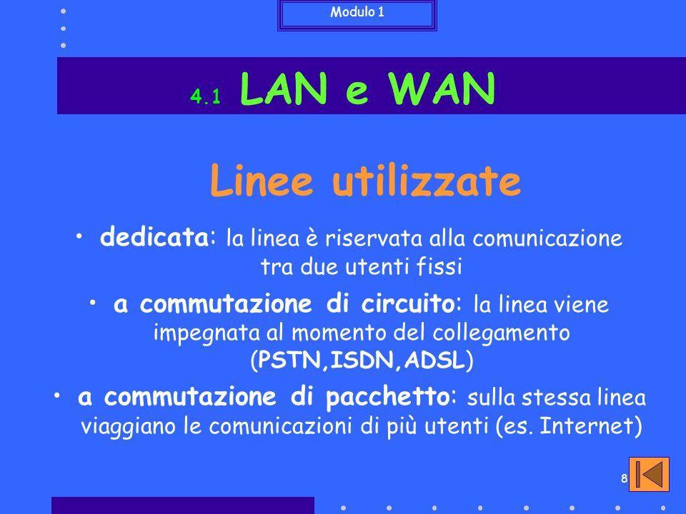 dedicata: la linea è riservata alla comunicazione tra due utenti fissi