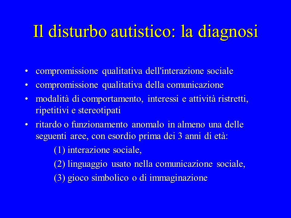 Il disturbo autistico: la diagnosi
